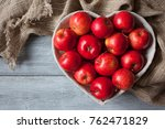 red apples in a basket in the ... | Shutterstock . vector #762471829