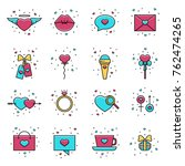 collection of love  wedding ... | Shutterstock .eps vector #762474265