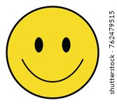 happy smiley face with outline. | Shutterstock .eps vector #762479515