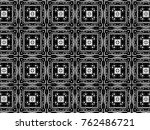 ornament with elements of black ... | Shutterstock . vector #762486721