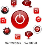 switch vector glossy icons. | Shutterstock .eps vector #76248928
