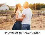 beautiful guy and girl holding... | Shutterstock . vector #762495364