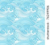 japanese seamless waves pattern ... | Shutterstock .eps vector #76249906
