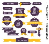 set of banners with ribbon... | Shutterstock .eps vector #762504967