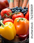 fruit and vegetables. peppers ... | Shutterstock . vector #762508009