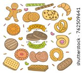 set of colored hand drawn... | Shutterstock .eps vector #762509641
