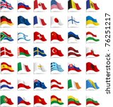 flags. all elements and... | Shutterstock .eps vector #76251217