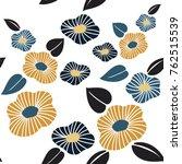 floral pattern vector in... | Shutterstock .eps vector #762515539