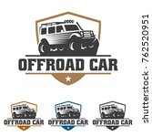 template of off road car logo ... | Shutterstock .eps vector #762520951