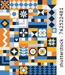 cute geometric pattern. card in ... | Shutterstock .eps vector #762522481