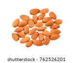 almonds isolated on white... | Shutterstock . vector #762526201