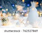 blurred christmas lights...   Shutterstock . vector #762527869