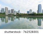 downtown skyline across yun... | Shutterstock . vector #762528301