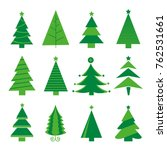 tree merry christmas icon... | Shutterstock .eps vector #762531661
