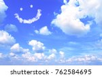 smilie from white cloud in the... | Shutterstock . vector #762584695