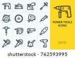 power tools icons set....