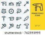 power tools icons set. set of...