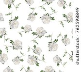 seamless pattern with white... | Shutterstock . vector #762598849