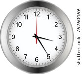 silver wall clock with white... | Shutterstock .eps vector #76260469