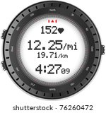 fitness watch with heart rate... | Shutterstock .eps vector #76260472