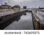 the second lock of the panama... | Shutterstock . vector #762605371