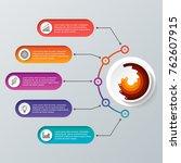 timeline infographics design... | Shutterstock .eps vector #762607915