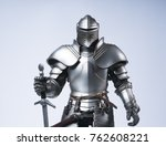 knight with sword and shield | Shutterstock . vector #762608221