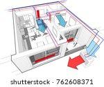 3d illustration of apartment... | Shutterstock . vector #762608371