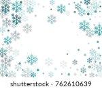 winter card border of snow... | Shutterstock .eps vector #762610639