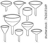 vector set of funnels | Shutterstock .eps vector #762615169