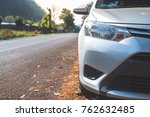 front of car parking on the... | Shutterstock . vector #762632485