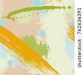 splash brush strokes seamless... | Shutterstock .eps vector #762636391