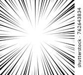 vector black radial speed line... | Shutterstock .eps vector #762643834