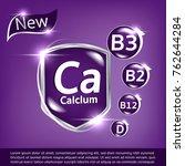 milk calcium and vitamin poster | Shutterstock .eps vector #762644284