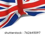 great britain flag  united... | Shutterstock .eps vector #762645097