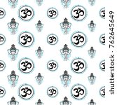 seamless pattern with  om