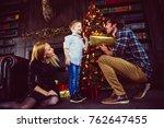family home portrait. parents... | Shutterstock . vector #762647455