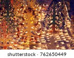 christmas tree lights  abstract ... | Shutterstock . vector #762650449