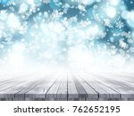 3d render of a wooden table on... | Shutterstock . vector #762652195