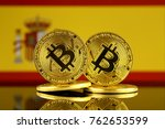 physical version of bitcoin and ... | Shutterstock . vector #762653599
