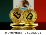 physical version of bitcoin and ... | Shutterstock . vector #762653731