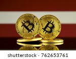 physical version of bitcoin and ... | Shutterstock . vector #762653761