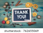 thank you. christmas and... | Shutterstock . vector #762655069