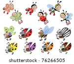 set insects | Shutterstock . vector #76266505