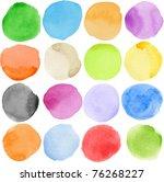 Watercolor Hand Painted Circle...