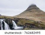 kirkjufell volcano the coast of ... | Shutterstock . vector #762682495