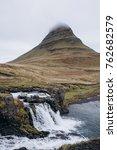 kirkjufell volcano the coast of ... | Shutterstock . vector #762682579
