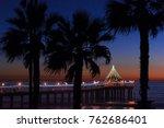 christmas at manhattan beach...   Shutterstock . vector #762686401