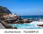porto moniz with the famous... | Shutterstock . vector #762688915