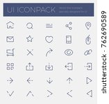 outline vector icon set...